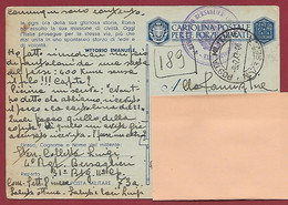 POSTA MILITARE 73 A In  FRANCHIGIA  YUGOSLAVIA BERSAGLIERI 1943 - 1939-45
