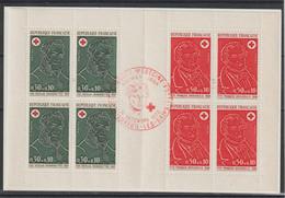 France Carnet Croix Rouge 1972 Oblitération 1er Jour - Red Cross