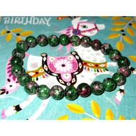 Rubis Fuschite Bracelet Stretch, Perles 0,8 Cm, Pierres Naturelles, Bien être Et Santé - Minerals