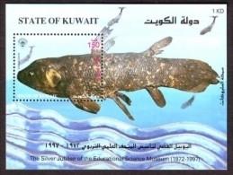 (049) Kuwait  1997 / Fish Sheet / Bf / Bloc Poissons / Fische / Vissen  ** / Mnh  Michel BL 5  Rare / Scarce !! - Kuwait
