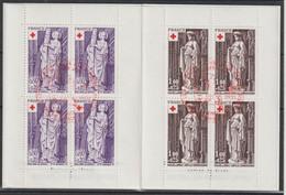France Carnet Croix Rouge 1976 Oblitération 1er Jour - Red Cross