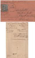 India 1870's  QV 1/2A Scinde, Punjab & Delhi Rly  Telegramme Form & Envelope Delhi To Bhiwani  # 32207  D  Inde Indien - Unclassified