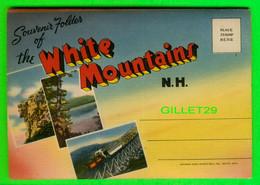 WHITE MOUNTAINS, NH - CARNET SOUVENIR FOLDER - GREETINGS FRON WHITE MOUNTAINS - 18 PHOTOS - TICHNOR BROS INC - - White Mountains