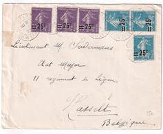 SEMEUSE SURCHARGEE ! - 1928 - ENVELOPPE De ROMORANTIN (LOIR ET CHER) => HASSELT (BELGIQUE) ! - 1921-1960: Modern Period