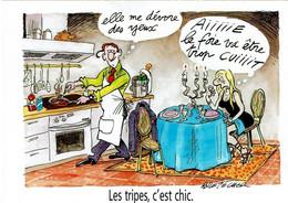 Foie Au Vinaigre De Framboise Illustré Par Claire Bretecher - éditions Produits Tripiers - Neuve - Recipes (cooking)