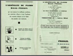 "* Feuillet Marque "" PROGIL "" - Arseniate De Plomb - Tarif * - Pubblicitari"