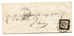 Lettre Avec Texte De Voiron Pour La Ville Taxe Yv N°2 6 Décembre 1860  Très Grandes Marges SUP - 1859-1955 Covers & Documents