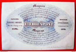Gand. Gent . Carte Porcelaine . L. Thienpont . Tapissier - Gent