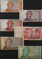 Billets > CROATIE > 6 BILLETS De BANQUE Divers De Collection - BE - Croatia
