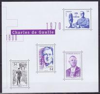 Bloc Feuillet Neuf ** N° F5446(Yvert) France 2020 - Charles De Gaulle, 1890-1970 - Mint/Hinged