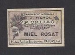 Etiquette Miel Rosa -  Pharmacie Normale 1 Er Classe P. Orliac à Cahors  (46) - Sin Clasificación
