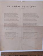 Guerre 1914 / Chant Du Départ / Cantate La Prière Du Soldat Militaire Militaria 14 18 - Documenti Storici