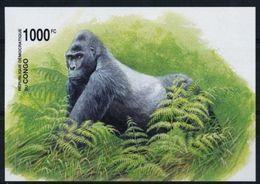 Congo 2002 Yvertn° Bloc 69 OCBn° Bloc 207 Non Dentelé  *** MNH Faune Gorilles Gorilla 's Cote 35 Euro - Mint/hinged