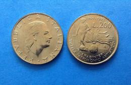 1999 ITALIA REPUBBLICA ITALY COIN MONETA 200 LIRE FDC UNC DA ROTOLINO TUTELA PATRIMONIO ARTISTICO CARABINIERI - 200 Lire