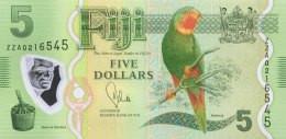 Fiji 5 Dollars, P-115aR (2013) -  Replacement Note - UNC - Fiji