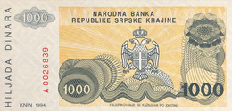 Croatia 1.000 Dinara, P-R30 (1994) - UNC - Croatia