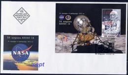 NASA  - 50 Yers APOLLO 14 - 100 Years Since Birds John  Glenn - Bulgaria / Bulgarie 2021 - FDC - Autres