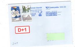 Czech Republic 2021 - European Indoor Champion In Shot Put T. Stanek, Special Machinery Postmark, Postage Used - Leichtathletik