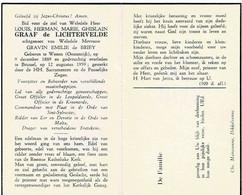 WENEN (Oostenrijk) / BRUSSEL - Louis Herman Graaf De LICHTERVELDE - Echtg. Gravin E. De BRIEY - °1889 En +1959 - Devotion Images