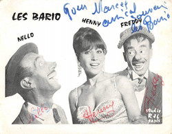 CPA THEME CIRQUE LES BARIO NELLO HENNY FREDDY SIGNATURE - Zirkus