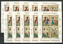 Liechtenstein Mi Bl. 8 ** 10 Stück - Blocchi & Fogli