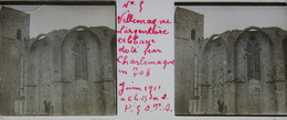 Plaque De Verre Stéréoscopique Positive - Hérault - Villemagne L'Argentière - Abbaye De Villemagne - Plaques De Verre
