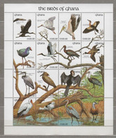 (SS125) GHANA 1991 (Birds Of Ghana). Miniature Sheet. Mi ## 1578-1593 (Zd-Bogen). MNH** - Ghana (1957-...)