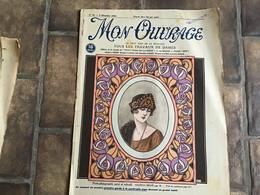 Revue Mon Ouvrage 1933 Mode Couture Tous Les Travaux De Dames Paris Porte Photographie Peint Chapeau Brodé - 1900 - 1949