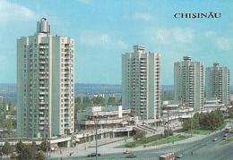 95292- CHISINAU PEACE AVENUE, BUSS, CAR - Moldavië