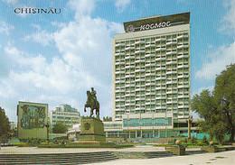 95297- CHISINAU COSMOS HOTEL, SQUARE, MONUMENT, CAR - Moldavië