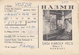 95306- PECS CATHEDRAL, HUNGARY RADIO AMATEUR STATION, QSL CARD - Radio Amateur