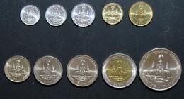 Thailand Coin 1996 Golden Jubilee Throne 1-5-10-25-50 Satang 1-2-5-10-20 Baht Set - Thailand