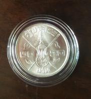 Thailand Coin 20 Baht 1963 36th Anniversary Of Rama IX Silver + Clear Holder - Thailand