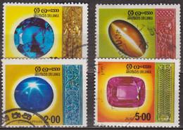 Saphir Bleu - Oeil De Chat - Saphir étoile - Rubis - SRI LANKA - Pierres Précieuses - N° 474-475-476-477 - 1976 - Sri Lanka (Ceylon) (1948-...)