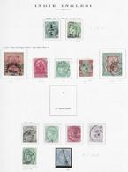 95567) INDIA INGLESE- LOTTO DI FRANCOBOLLI- 1891-900 VITTORIA- USATI-MLH* - Unclassified