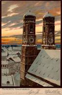 79412- Künstler Ak Zenno Diemer München Frauenkirche 1900 - Diemer, Zeno