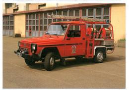 Sochaux -  Montbeliard  - Véhicule De Premeire Intervention  -  Camionette De Pompiers -  Peugeot - CPM° - Sochaux