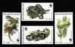 Belg. 2000 COB/OBP 2896/99**, Yv 2895/98**, Mi 2947/50** MNH WWF Amfibieën En Reptielen/Amphibies Et Reptiles - Nuovi