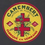 Etiquette De Fromage Camembert -  Laiterie De Filstroff  (57) - Fromage