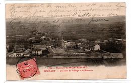 Sochaux -  Montbeliard  - Un Coin  Du Village Et La Brasserie   - CPSM° - Sochaux