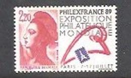 LIBERTE De GANDON 1988. Y&T N° 2524**- 2 F.20 Rouge-bleu-noir. Neuf Sans Charnière. Gomme Brillante. - 1982-90 Vrijheid Van Gandon