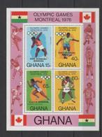 (SS126) GHANA 1977 (Summer Olympic Games, Monreal. Olympic Winners. Overprints). Souvenir Sheet. Mi # Block 69A. MNH** - Ghana (1957-...)