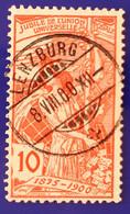 UPU 1900 Nr. 78B Mit Voll ⦿ LENZBURG 8 VIII 00 - Gebruikt