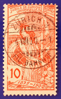 UPU 1900 Nr. 78B Mit Voll ⦿ ZÜRICH 3 FIL BAHNHOF 4 VIII 00 - Gebruikt