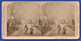 PHOTO STEREOSCOPIQUE, STEREOVIEW - Youthful Mothers Of Japan / Japon - Stereoscopio