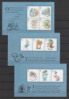 GRANDE BRETAGNE 2016 - Beatrix Potter - 3 Feuillets (10 Timbres) - Yvert  4326 à 4335 - Ungebraucht