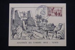 TUNISIE - Carte Postale De La Journée Du Timbre De Tunis En 1955 - L 95675 - Covers & Documents