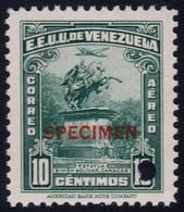 ✔️ Venezuela 1947 - Air Mail  SPECIMEN Mi. 479  ** MNH - Depart 1€ - Venezuela