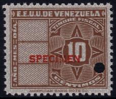 ✔️ Venezuela 1947 - Stempelmarke Timbre Fiscal Fiscaux SPECIMEN Overprint In Red  Mi. 132 ** MNH - Depart 1€ - Venezuela