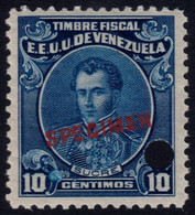✔️ Venezuela 1915 - Marechal Sucre Fiscal Fiscaux  SPECIMEN Yvert 127  ** MNH - Depart 1€ - Venezuela